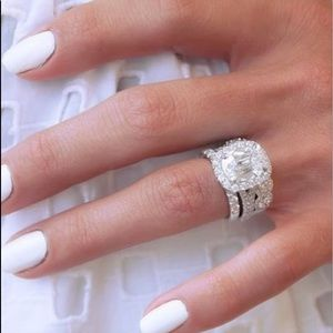 Engagement Anniversary Diamond Ring Set BIG New